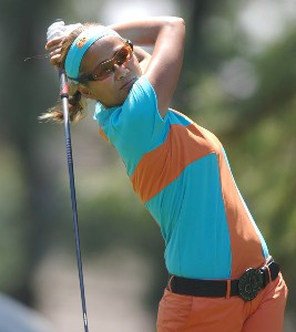 Jennifer Rosales in action during the third round of the LPGA's 2006 Michelob ULTRA Open at Kingsmill, at the Kingsmill Resort and Spa River Course in Williamsburg, Virginia on May 13, 2006.Photo by Steve Grayson/WireImage.com