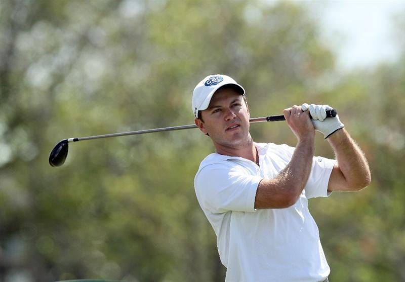 DORAL, FL - MARCH 13: Richard Sterne of South Africa plays his tee shot at the 14th hole during the second round of the World Golf Championships-CA Championship at the Doral Golf Resort & Spa on March 13, 2009 in Miami, Florida  (Photo by David Cannon/Getty Images)