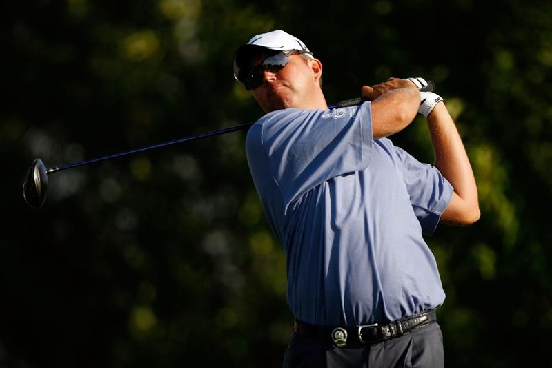 CHASKA, MN - AUGUST 13:  Bo Van Pelt watches his tee shot on the third hole during the first round of the 91st PGA Championship at Hazeltine National Golf Club on August 13, 2009 in Chaska, Minnesota.  (Photo by Streeter Lecka/Getty Images)