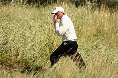 SOUTHPORT, UNITED KINGDOM - JULY 19:  Greg Norman of Australia walks to the 2nd tee during the third round of the 137th Open Championship on July 19, 2008 at Royal Birkdale Golf Club, Southport, England.  (Photo by Warren Little/Getty Images)