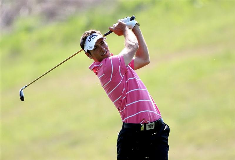 NEWPORT, WALES - JUNE 04:  Nick Dougherty of England during the second round of the Celtic Manor Wales Open on the 2010 Course at the Celtic Manor Resort on June 4, 2010 in Newport, Wales.  (Photo by Ross Kinnaird/Getty Images)