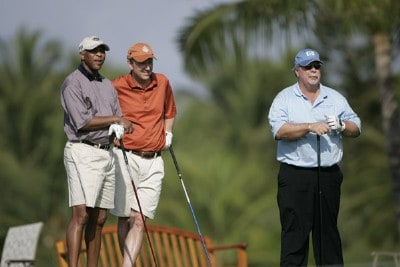 Craig Stadler watches as one of his amateur partners tees off on #14 during the Thursday Pro-Am at the 2006 Mastercard Championship  at Hualalai resort,  Kona, Hawaii.Photo by: Chris Condon/PGA TOUR