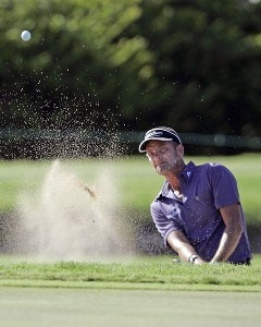 Jesper Parnevik hits a shot out of a greenside bunker off the 13th green during the second round of the Sony Open in Hawaii held at Waialae Country Club in Honolulu, Hawaii, on January 12, 2007. PGA TOUR - 2007 Sony Open - Second RoundPhoto by Marco Garcia/WireImage.com