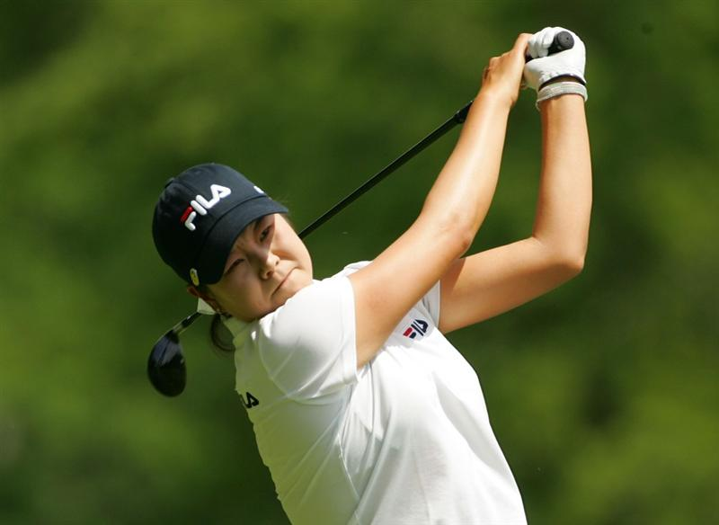 CORNING, NY - MAY 22:  Hee-Won Han of South Korea hits a drive during the second round of the LPGA Corning Classic at the Corning Country Club held on May 22, 2009 in Corning, New York.  (Photo by Michael Cohen/Getty Images)