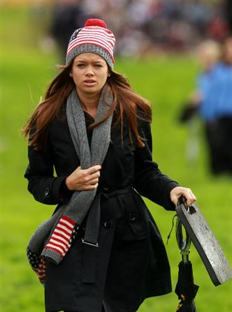 NEWPORT, WALES - OCTOBER 03:  Dustin Johnson's partner Amanda Caulder looks on during the  Fourball & Foursome Matches during the 2010 Ryder Cup at the Celtic Manor Resort on October 3, 2010 in Newport, Wales.  (Photo by Andrew Redington/Getty Images)