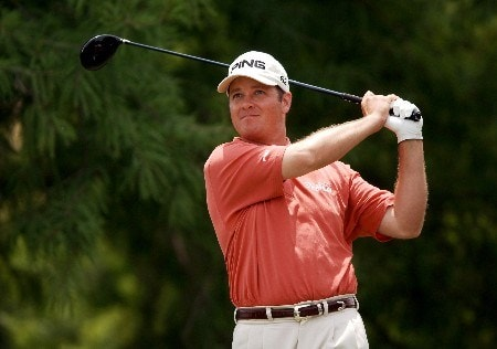 Ted Purdy hits from the ninth tee during the final round of EDS Byron Nelson Championship on Sunday May 15, 2005 at the TPC at Four Seasons Resort, Los Colinas, TexasPhoto by Steve Grayson/WireImage.com