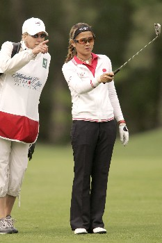 Jennifer Rosales in action during the first round of the 2005 Michelob Ultra Open at Kingsmill. May 4, 2005