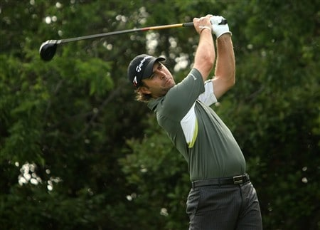 IRVING, TX - APRIL 24:  Mathew Goggin of Australia hits his tee shot on the 15th hole during the first round of the EDS Byron Nelson Championship at TPC Four Seasons Resort Las Colinas April 24, 2008 in Irving, Texas.  (Photo by Stephen Dunn/Getty Images)