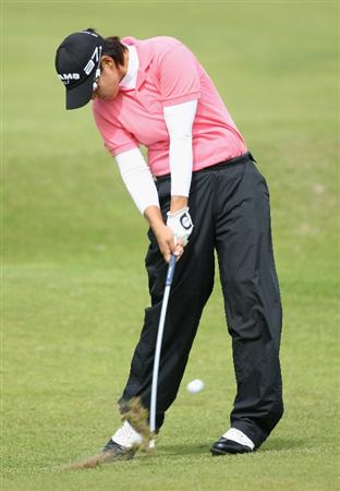 LYTHAM ST ANNES, ENGLAND - AUGUST 01:  Yani Tseng of Taiwan hits her second shot on the 2nd hole during the third round of the 2009 Ricoh Women's British Open Championship held at Royal Lytham St Annes Golf Club, on August 1, 2009 in Lytham St Annes, England.  (Photo by David Cannon/Getty Images)