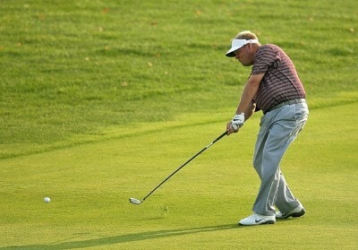 Carl Pettersson hits his approach on the 18th hole during the third round of the Turning Stone Resort Championship at Atunyote Golf Club September 22, 2007 in Verona, New York. PGA TOUR - 2007 Turning Stone Resort Championship - Third RoundPhoto by Mike Ehrmann/WireImage.com