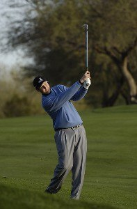 J.J. Henry in action during the second round of the FBR Open at the TPC Players Course on  Friday, January 3, 2006 in Scottsdale, Arizona.Photo by Marc Feldman/WireImage.com