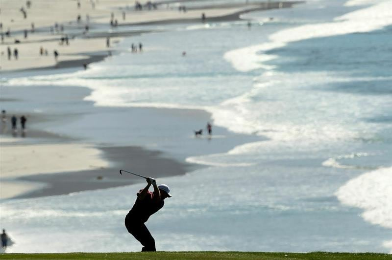 PEBBLE BEACH, CA - FEBRUARY 12:  D.A. Points hits his second shot on the 9th hole during the third round of the AT&T Pebble Beach National Pro-Am at the Pebble Beach Golf Links on February 12, 2011 in Pebble Beach, California.  (Photo by Ezra Shaw/Getty Images)