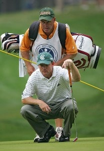 Shaun Micheel during the second round of the 88th PGA Championship at Medinah Country Club in Medinah, Illinois, on August 18, 2006.Photo by Sam Greenwood/WireImage.com