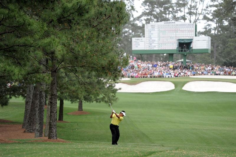 AUGUSTA, GA - APRIL 08:  K.J. Choi of South Korea plays a shot from the fairway on the seventh hole during the first round of the 2010 Masters Tournament at Augusta National Golf Club on April 8, 2010 in Augusta, Georgia.  (Photo by Harry How/Getty Images)