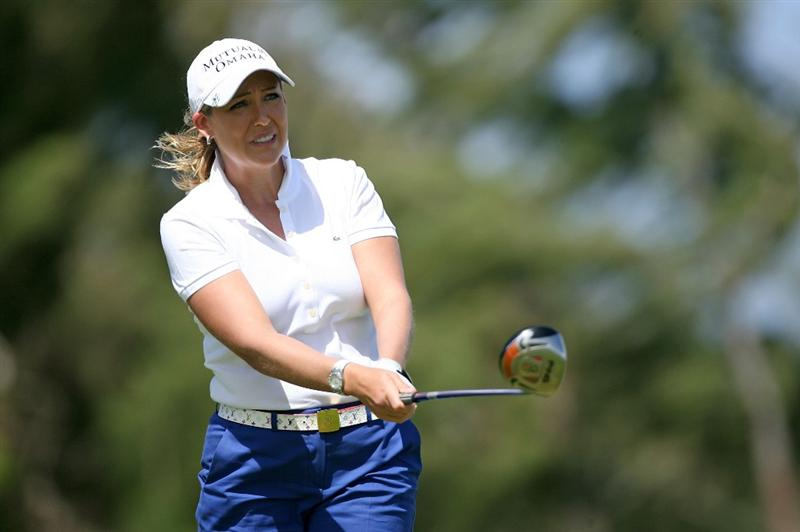 KAHUKU, HI - FEBRUARY 13:  Cristie Kerr hits her tee shot on the 3rd hole during the second round of the SBS Open on February 13, 2009 at the Turtle Bay Resort in Kahuku, Hawaii.  (Photo by Andy Lyons/Getty Images)