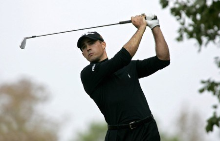 Jonathan Byrd  in action during the second round of the Southern Farm Bureau Classic at Annandale Golf Club in Madison, Mississippi on November 4, 2005.Photo by Michael Cohen/WireImage.com