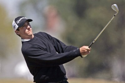 Peter Tomasulo follows his drive during the third round of the Chitimacha Louisiana Open at Le Triomphe Country Club in Broussard, Louisiana,on Saturday, March 25, 2006.Photo by Drew Hallowell/WireImage.com