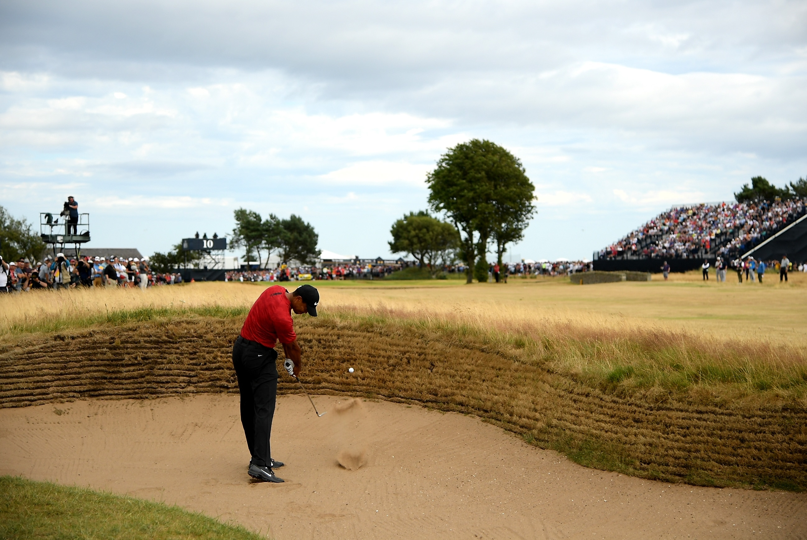 Tiger Woods at the 2018 Open Championship
