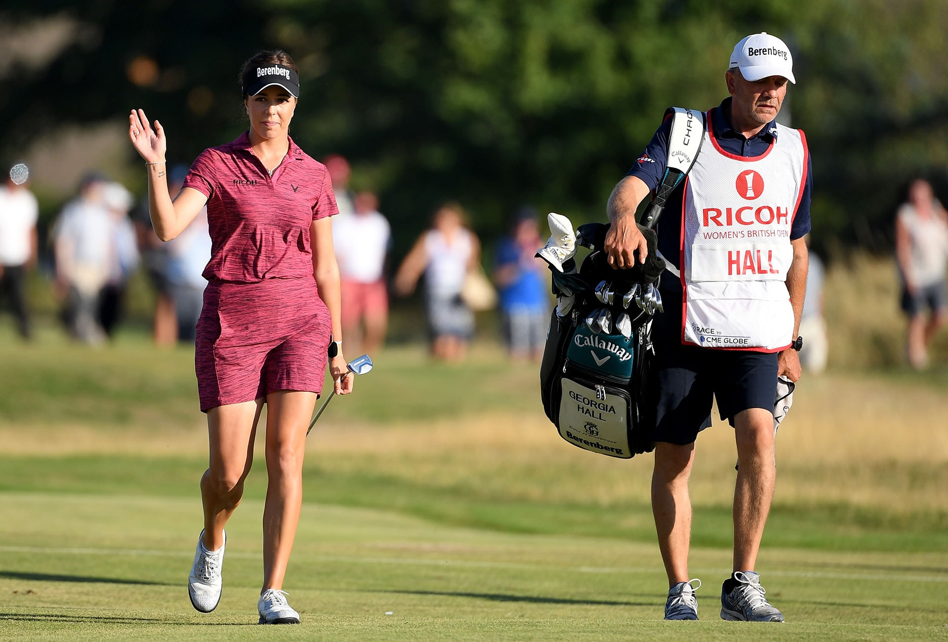 Georgia Hall wins major for dad, England
