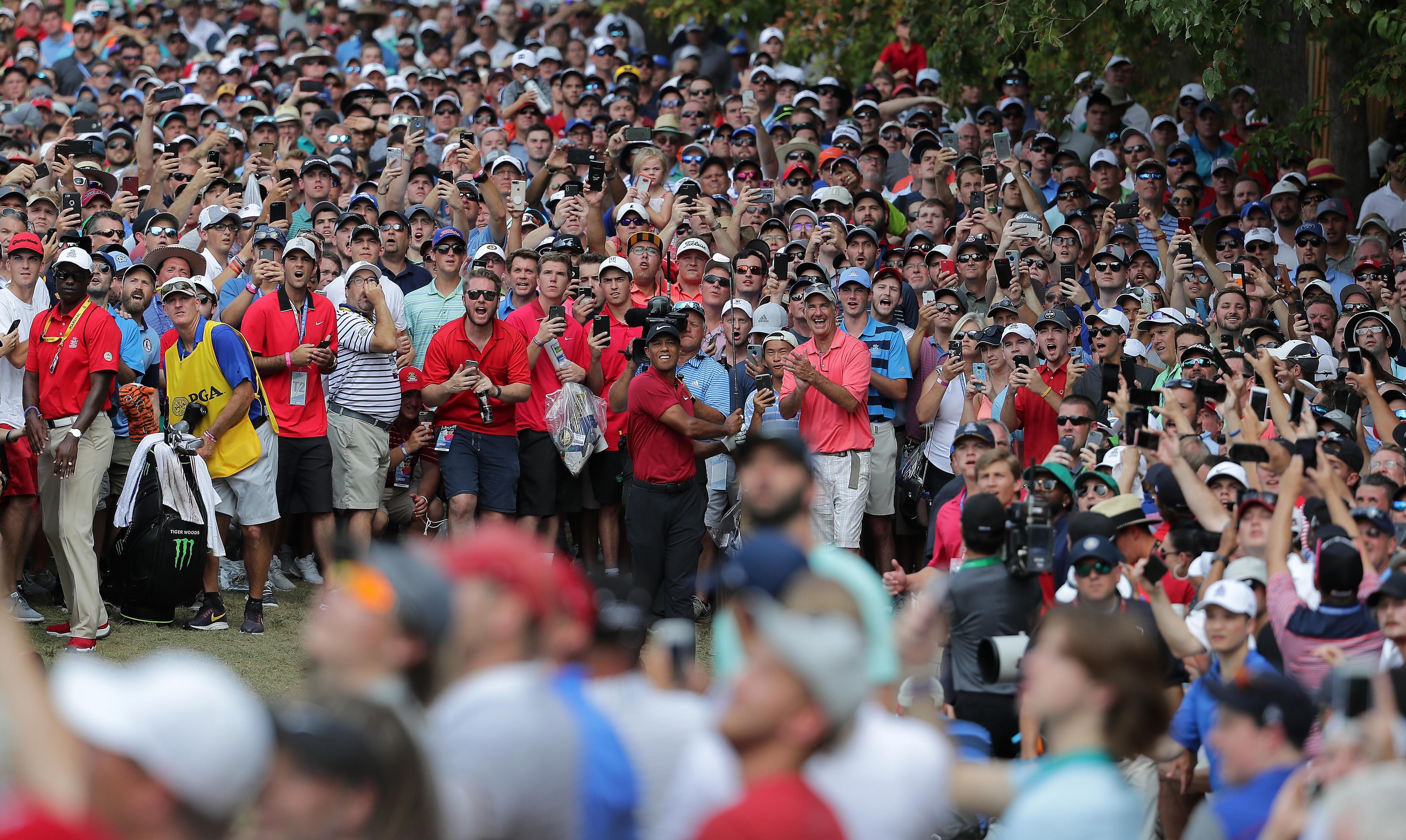 Tiger Woods at the 2018 PGA Championship