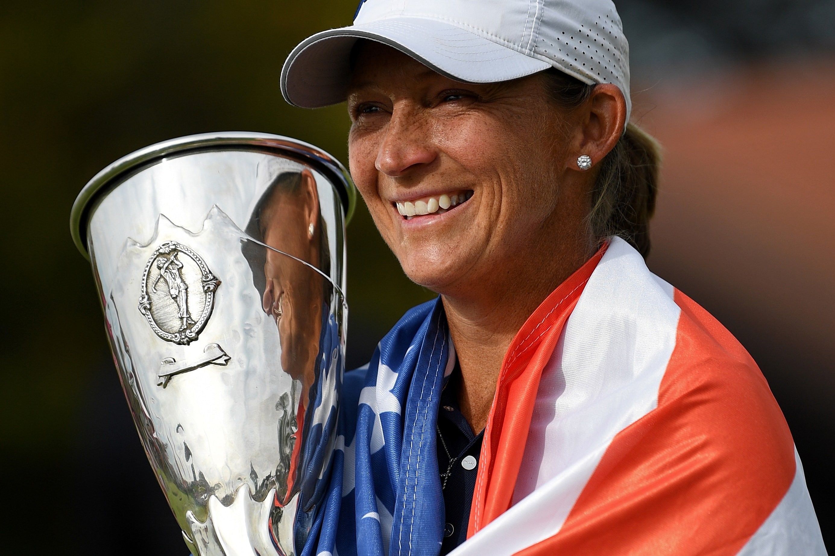 Angela Stanford at the 2018 Evian Championship