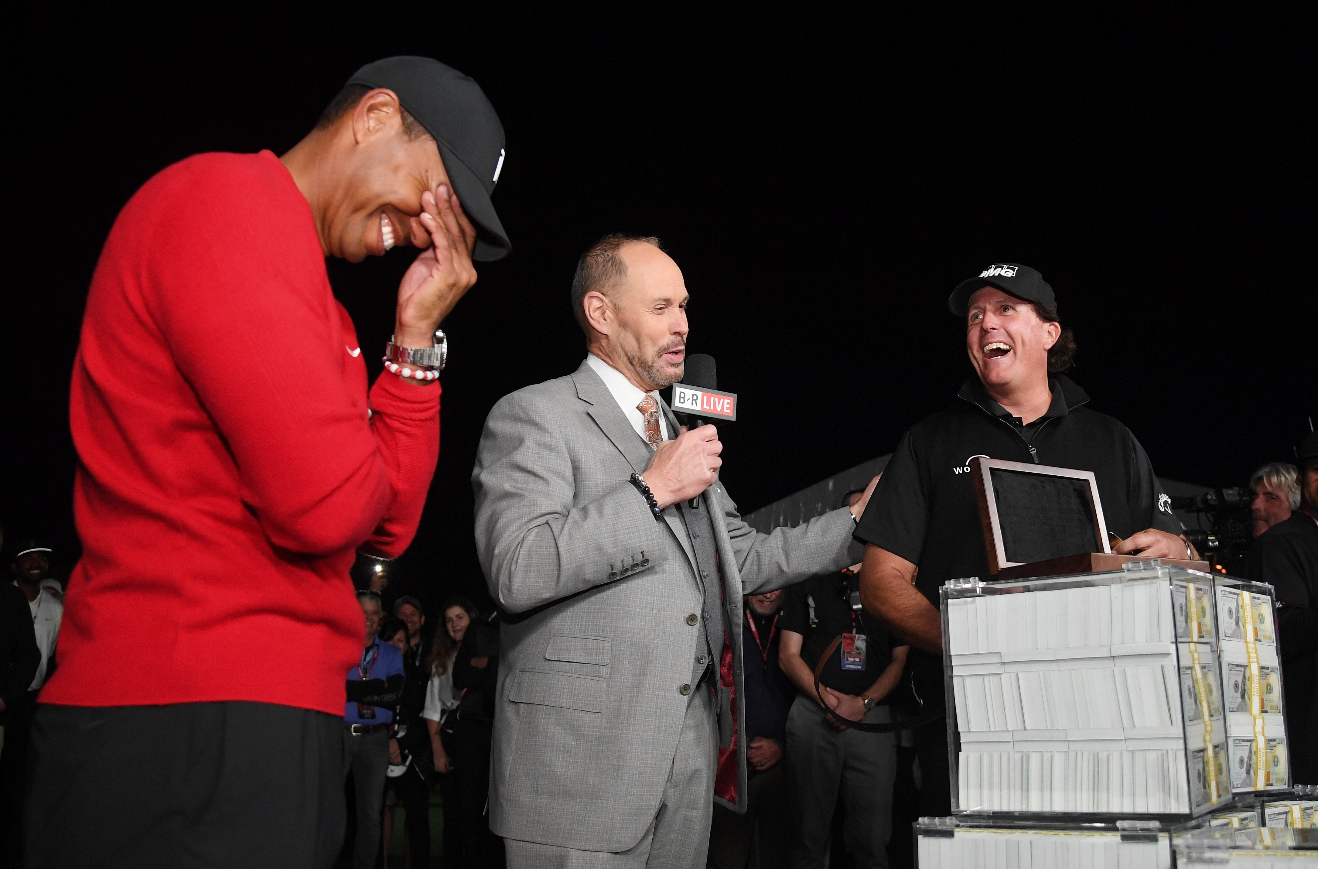 Tiger Woods and Phil Mickelson after The Match in 2018
