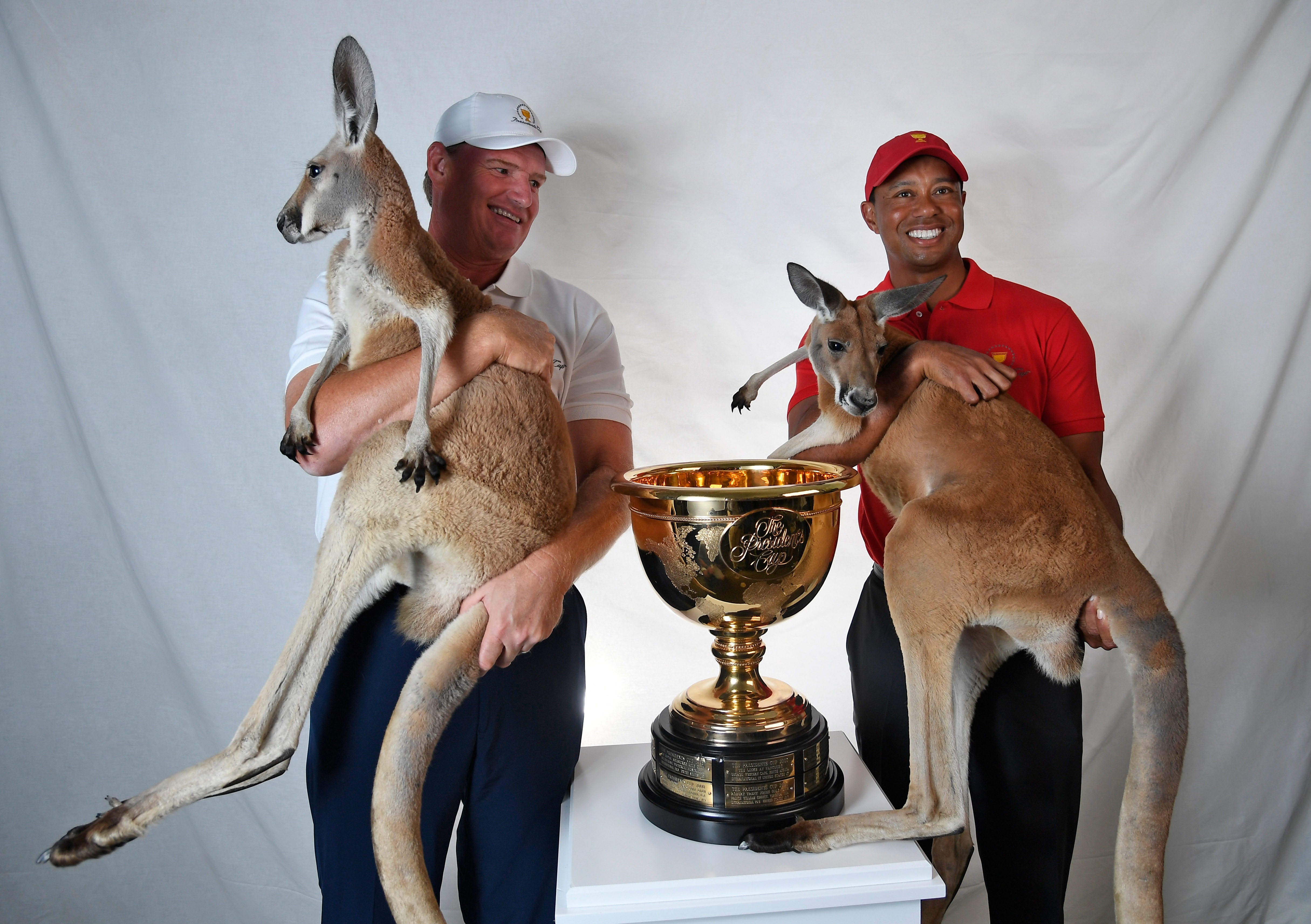 Ernie Els and Tiger Woods ahead of the 2019 Presidents Cup
