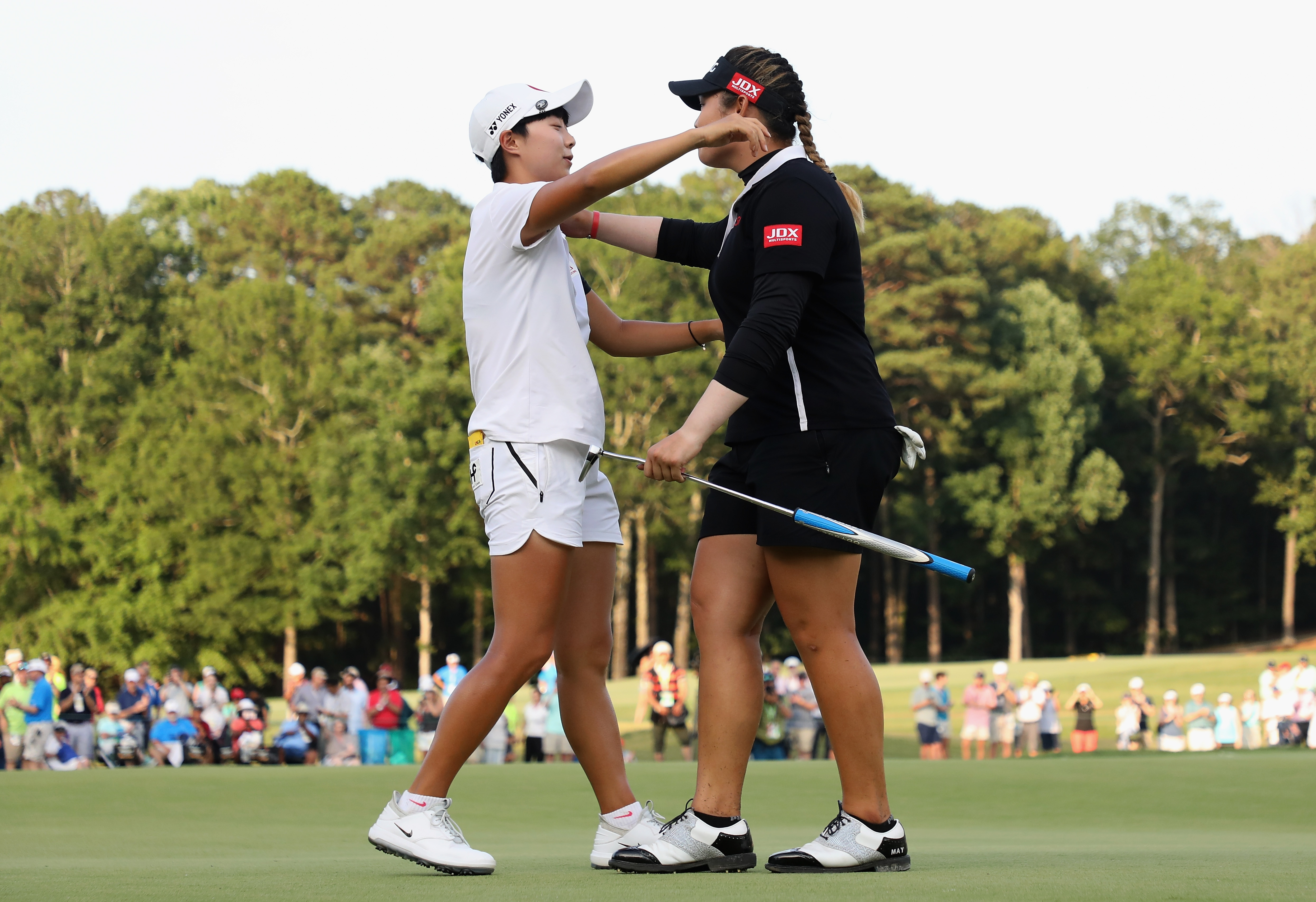 Hyo-Joo Kim and Ariya Jutanugarn at the 2018 U.S. Women's Open