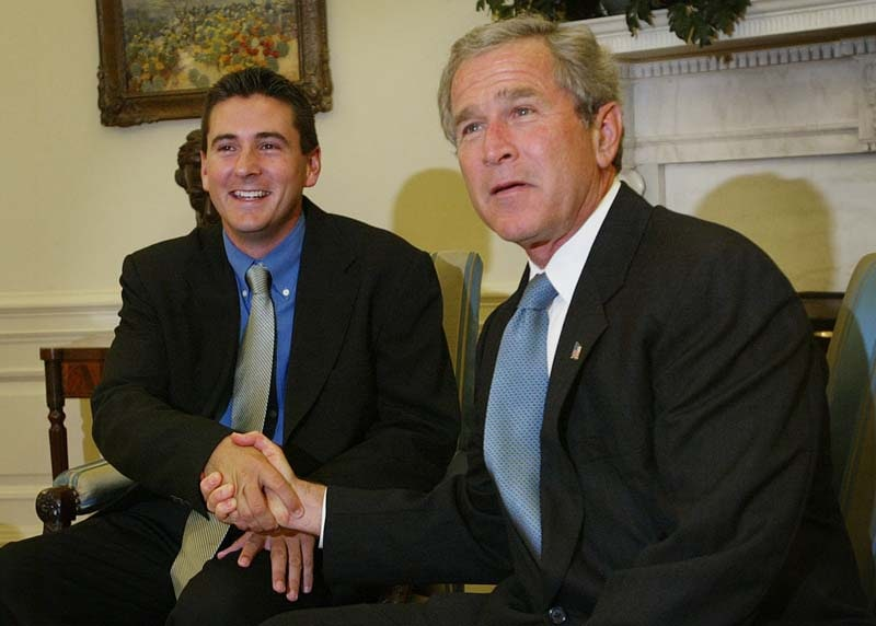 Ben Curtis and President George W. Bush