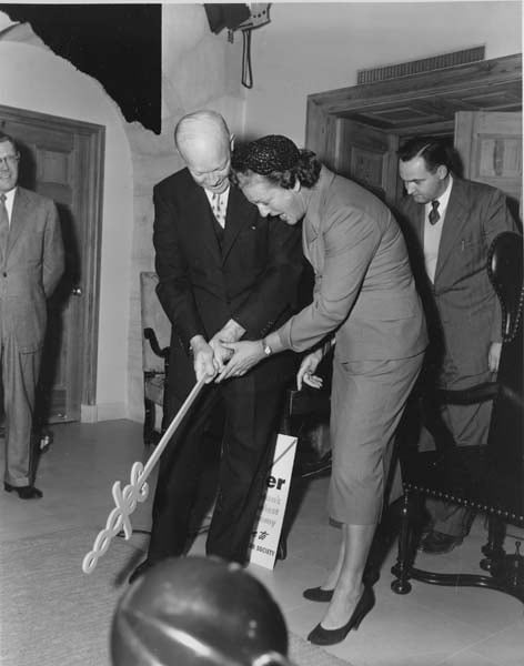 President Dwight D.Eisenhower and Babe Zaharias