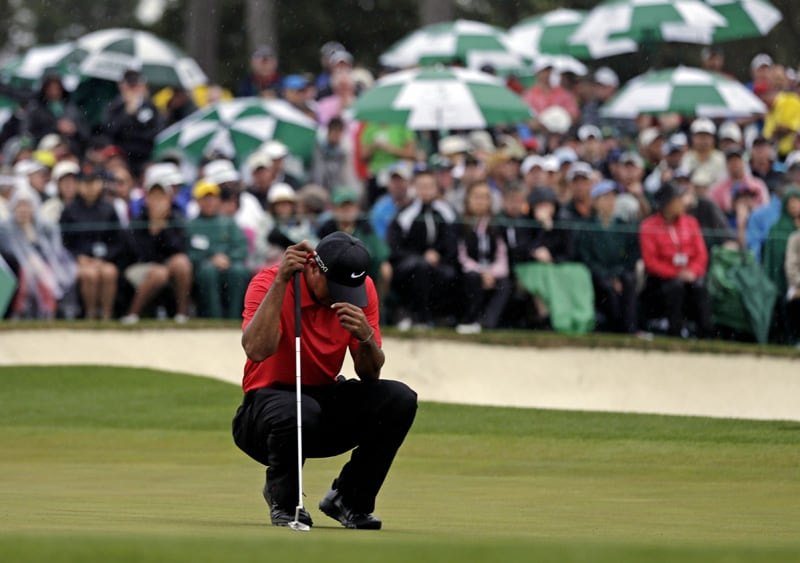 2. Misses Masters and U.S. Open