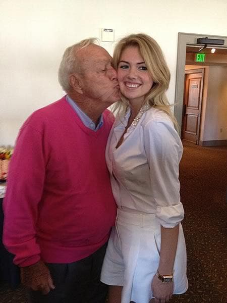 4. Arnold Palmer and Kate Upton