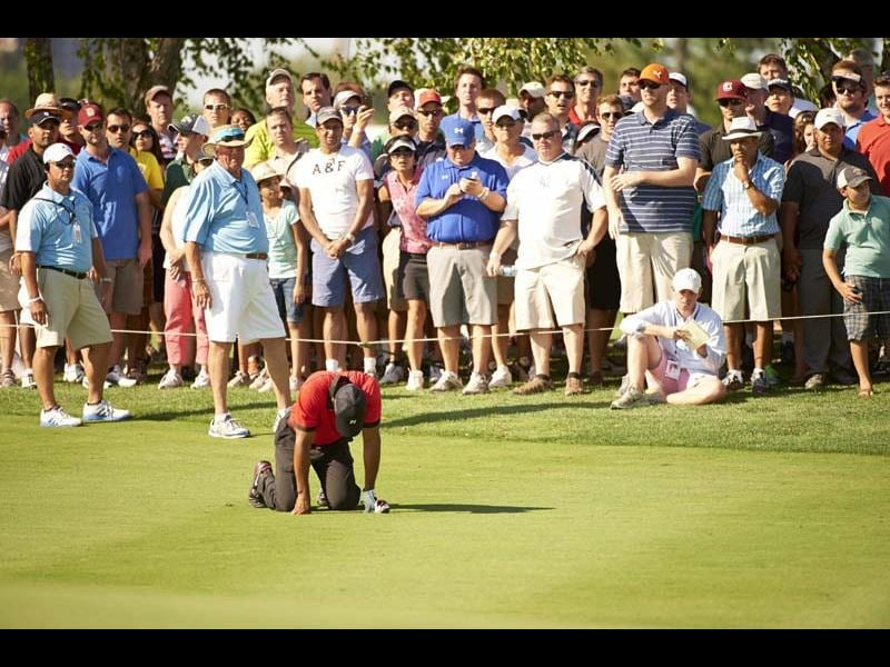 Bad: Woods' back injury at The Barclays