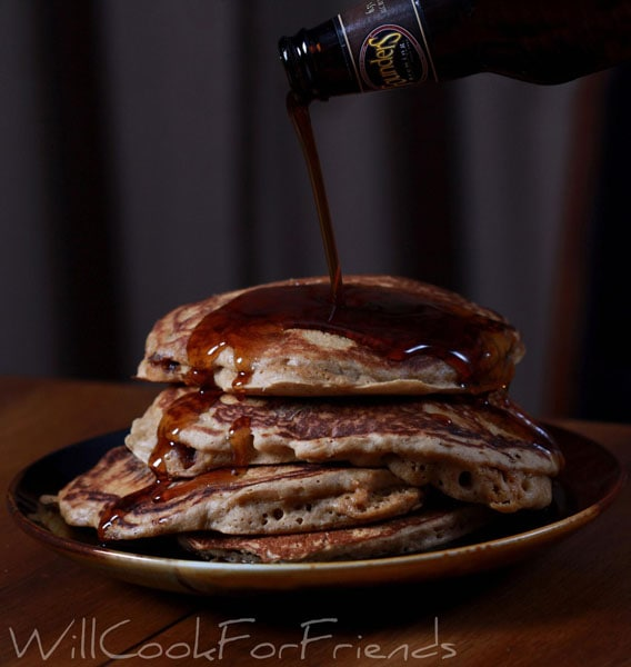 Beer and bacon 'mancake'