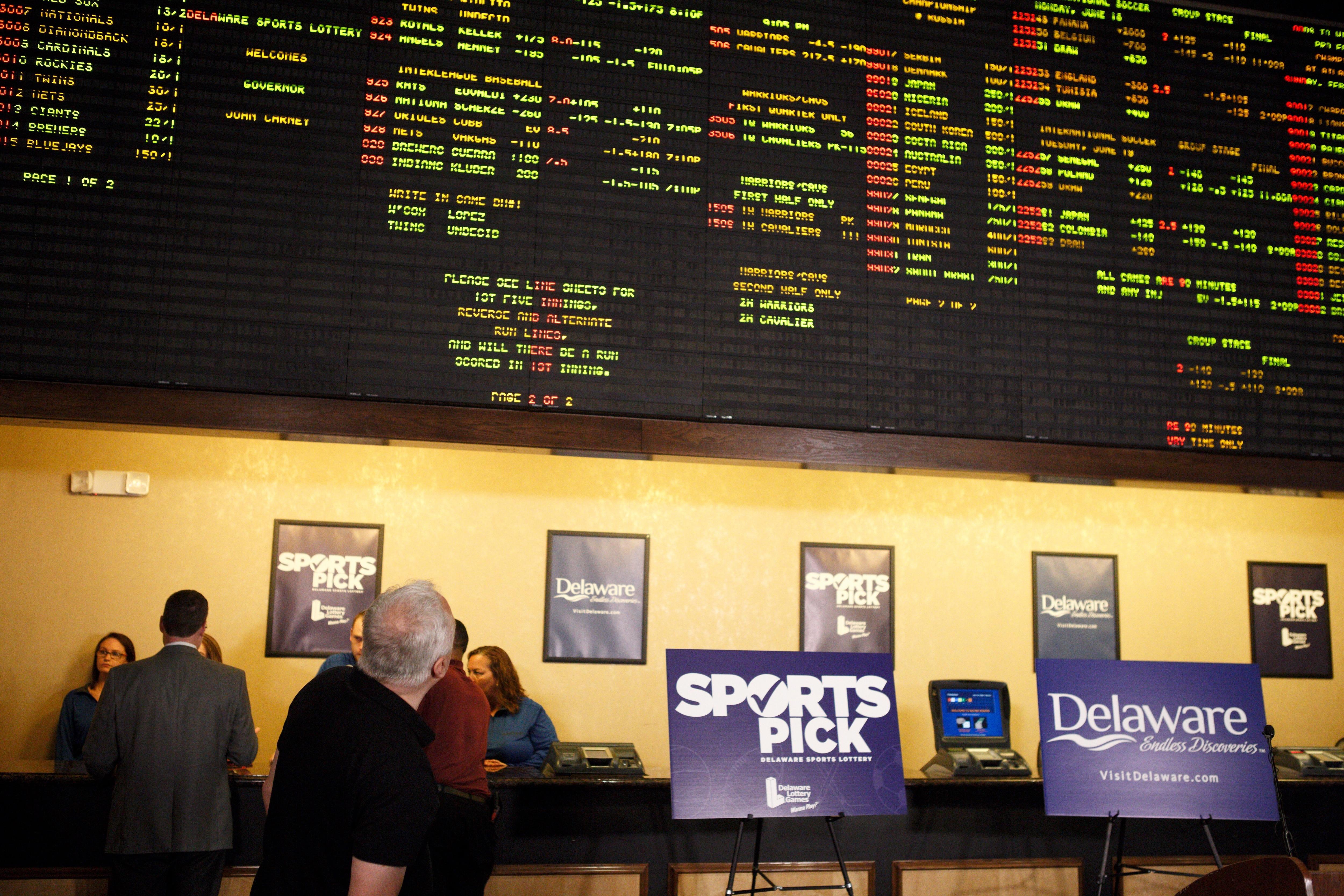 Sports gambling in Delaware