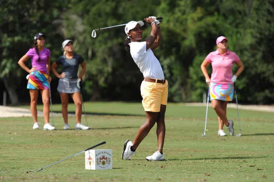Sadena Parks Shows Off Her Golf Skills