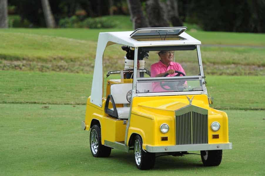 Chi Chi Rodriguez in Custom Golf Cart for Big Break NFL