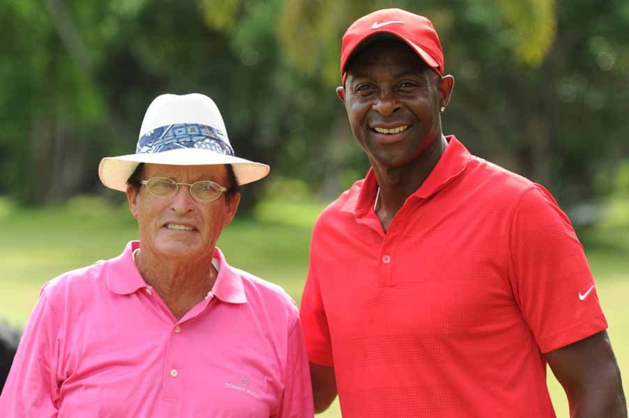 Jerry Rice and Chi Chi Rodriguez