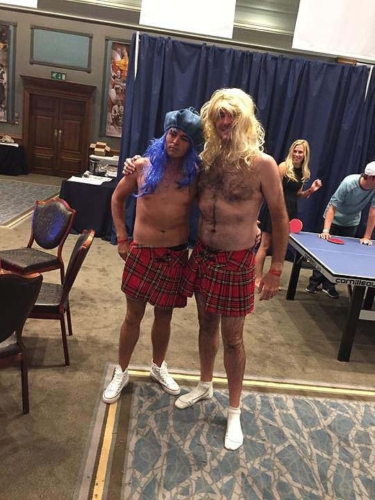 Bubba Watson playing dress-up at the Ryder Cup ... or