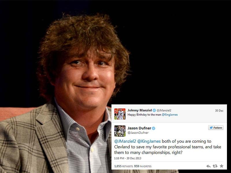 Jason Dufner predicting LeBron and Johnny Manziel to Cleveland
