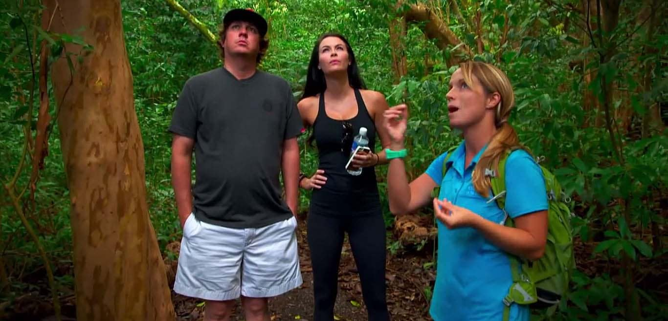 Dufners hiking in Hawaiian rainforest ... or