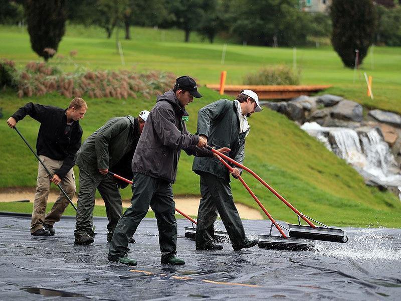 4. Rain at Evian Masters