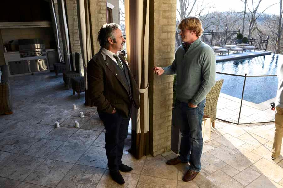 Snedeker and Feherty Talking Golf at Brandt's House