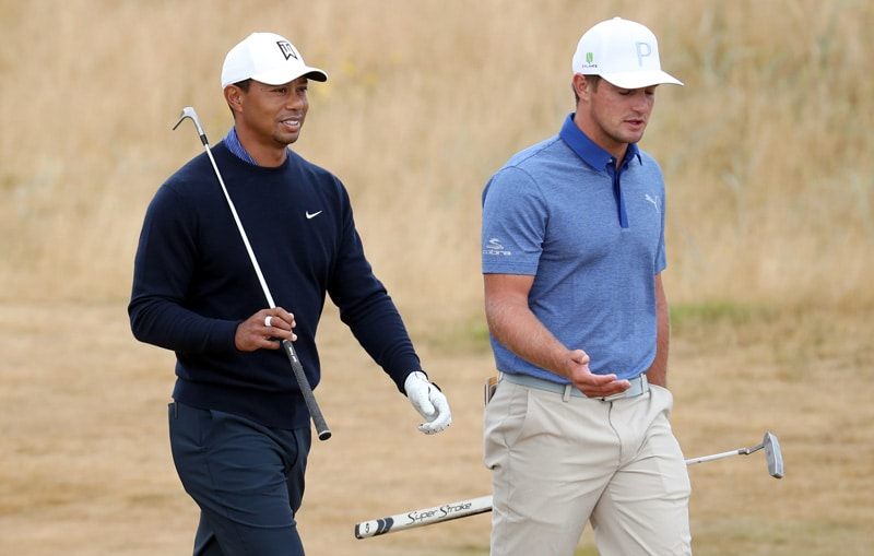 Tiger Woods and Bryson DeChambeau