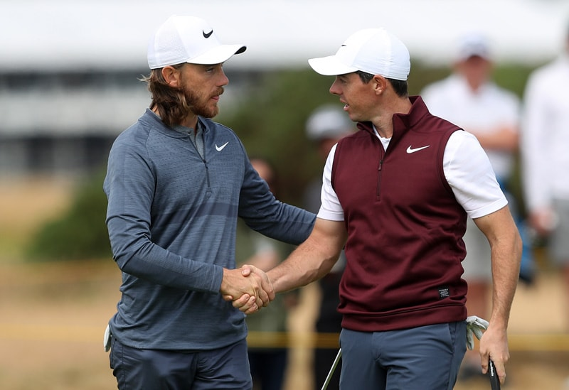 Rory McIlroy and Tommy Fleetwood
