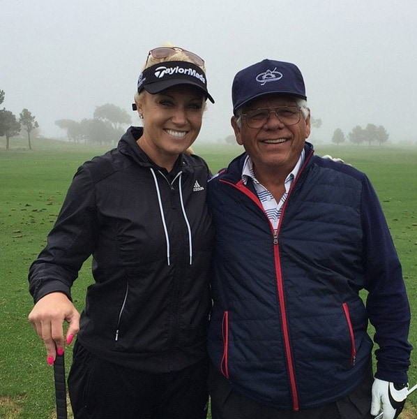 Natalie Gulbis and Lee Trevino