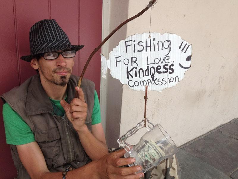 Hook, line and sinker, I gave him a dollar