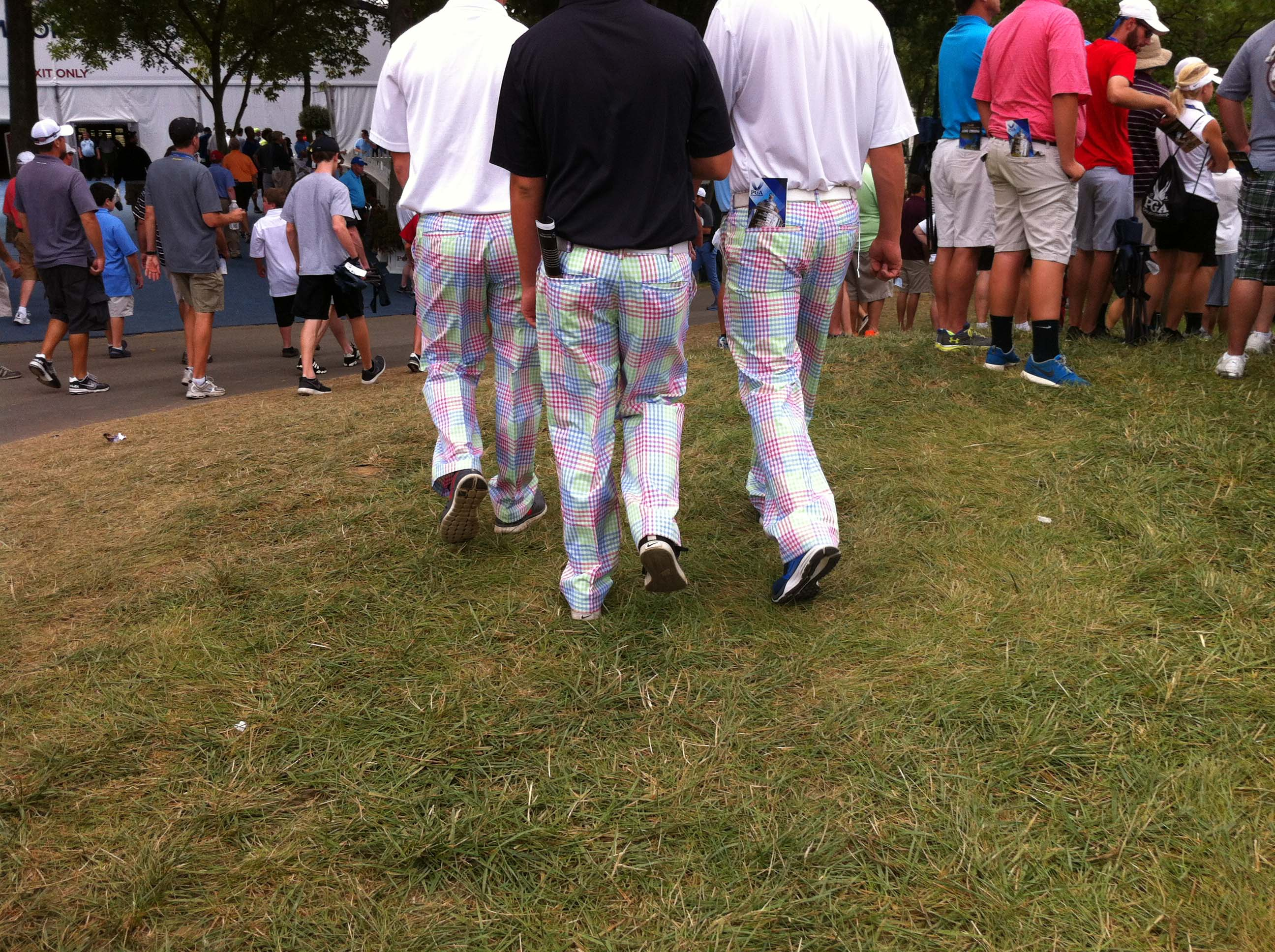 They accepted the invitation to Brick Tamland's pants party