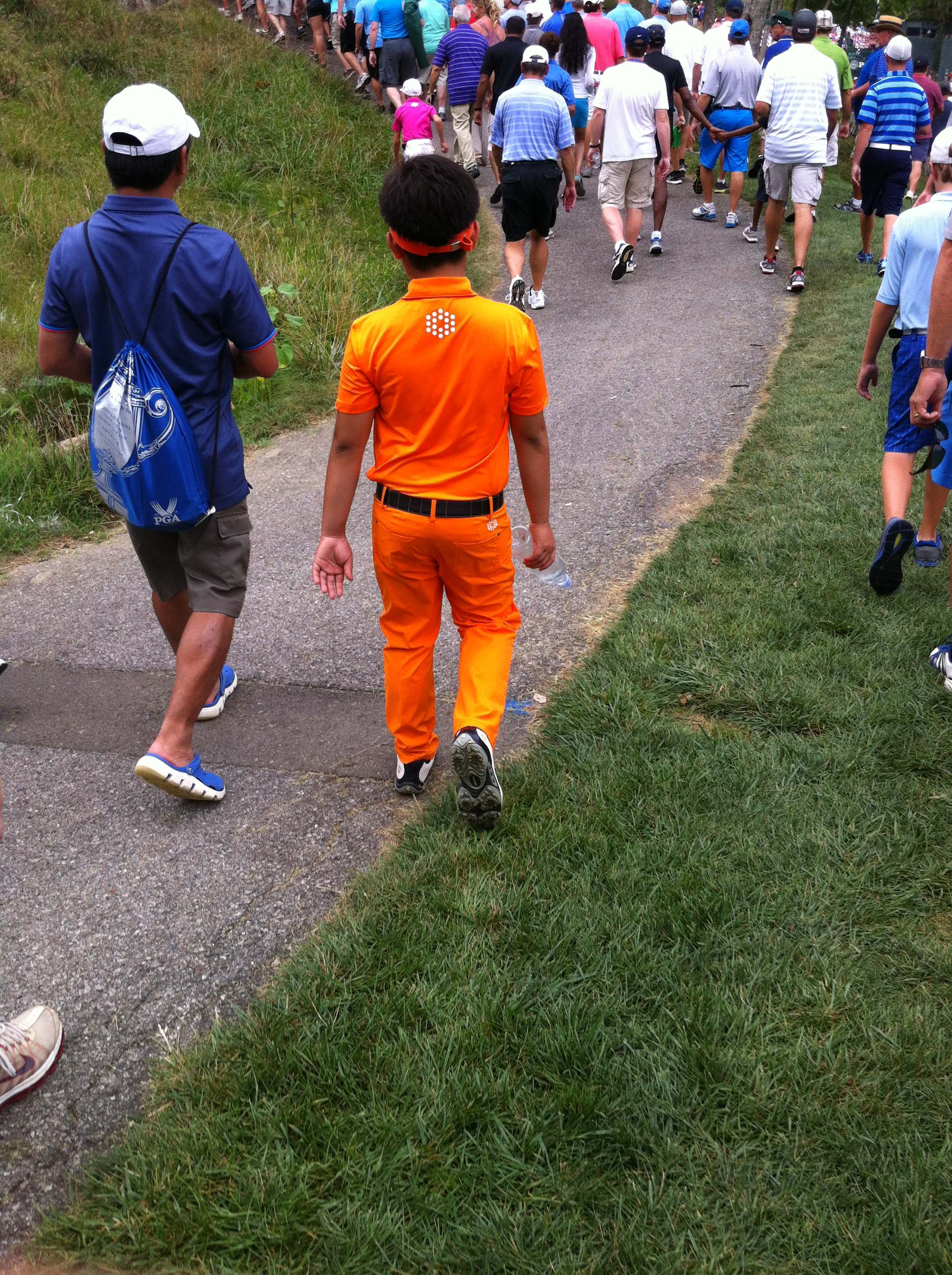 Fowler's following Tiger; must have an orange crush
