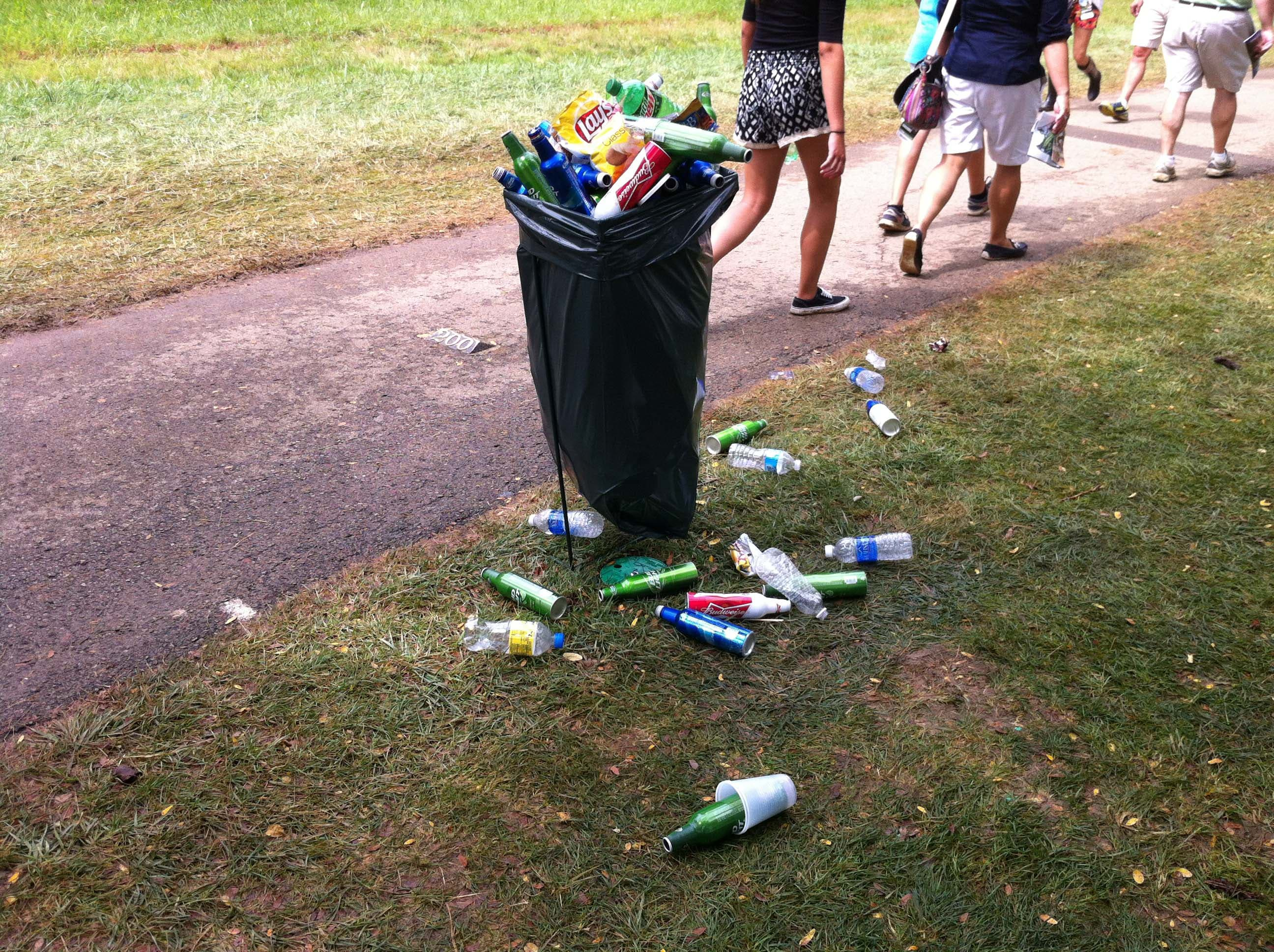 Fine line between littering ...